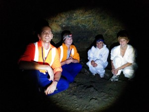 Air Matters team caving